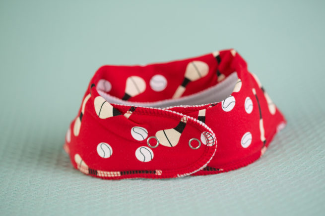 Red GAA organic cotton bandana bib