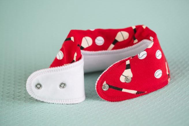 Red GAA organic cotton bandana bib