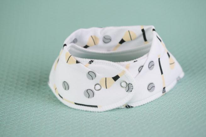 White GAA organic cotton bandana bib