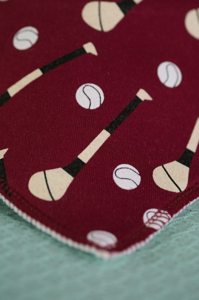 Wine GAA organic cotton bandana bib