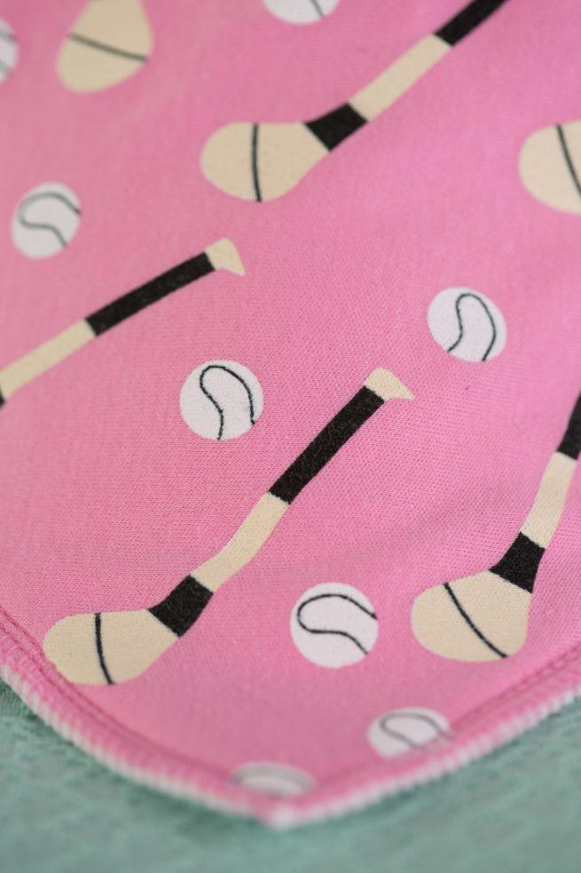 Pink GAA organic cotton bandana bib