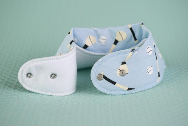 Blue GAA organic cotton bandana bib