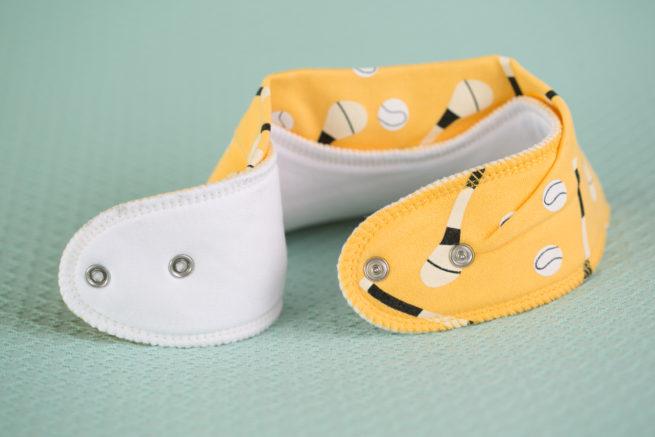 Yellow GAA organic cotton bandana bib