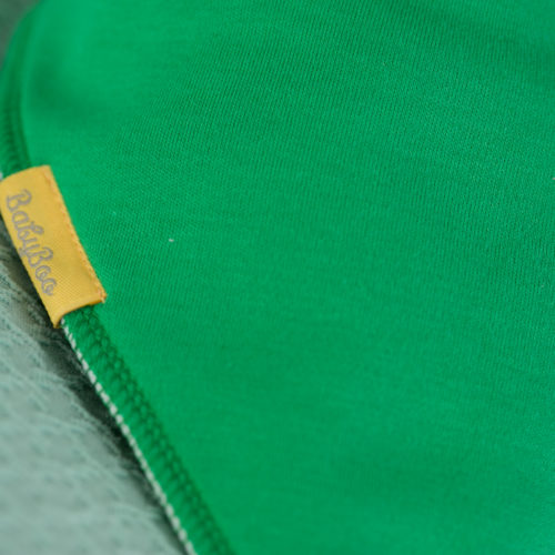 Green organic cotton bandana bib
