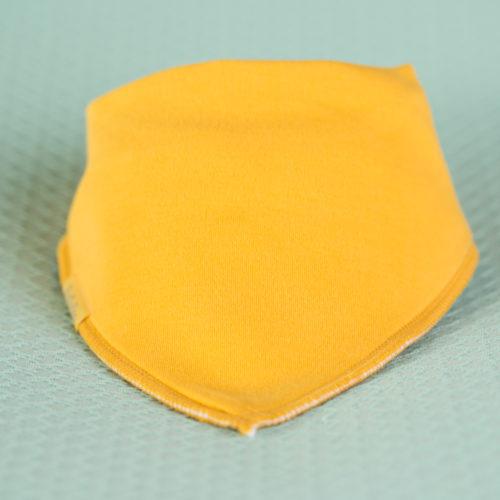 Mustard organic cotton bandana bib