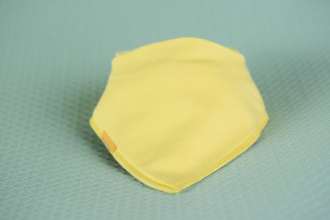 Yellow organic cotton bandana bib