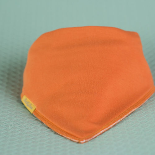 Orange organic cotton bandana bib