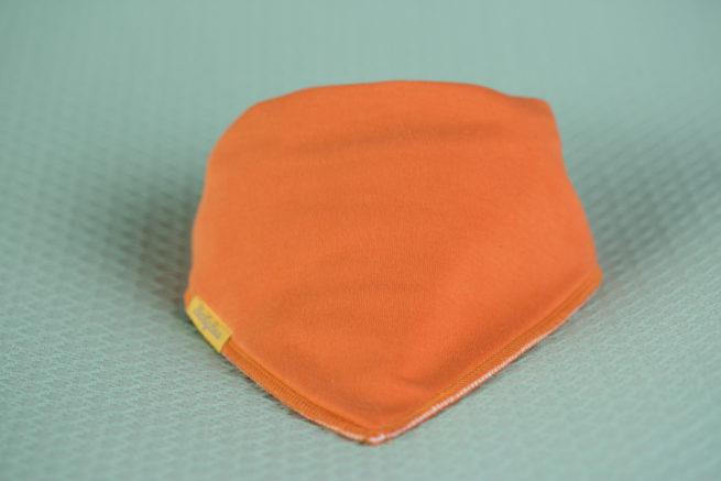 Orange organic cotton bandana bib