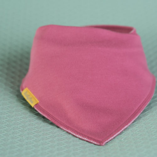 Rose pink organic cotton bandana bib