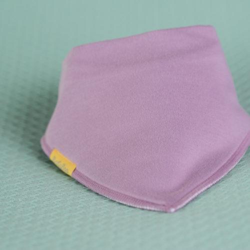 Lilac organic cotton bandana bib