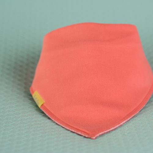 Peach organic cotton bandana bib