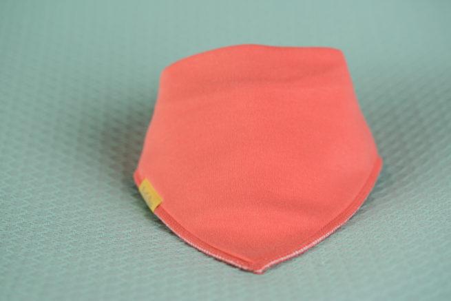 Peach organic cotton bandana bib