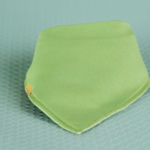 Lime Green organic cotton bandana bib
