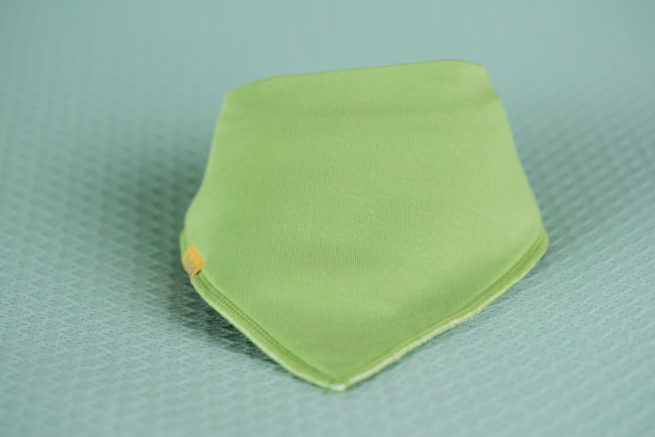 Lime Green organic cotton bandana bib