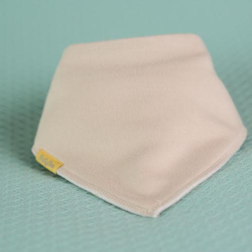 Sand organic cotton bandana bib