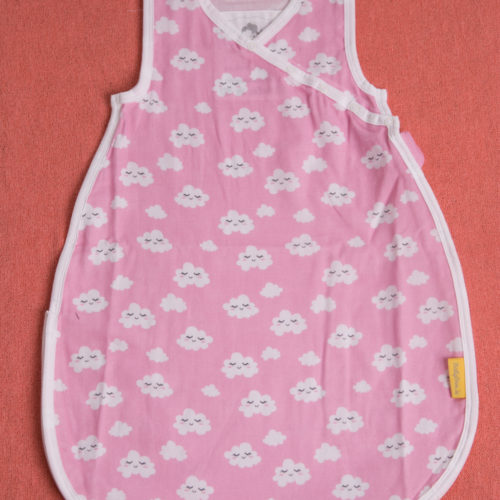 Pink clouds organic cotton snuggleboo sleeping bag