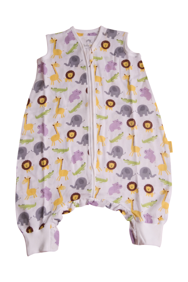 Jungle animals summer sleepsuit