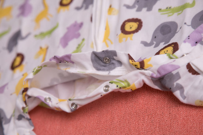 Jungle print organic cotton snuggleboo sleepsuit