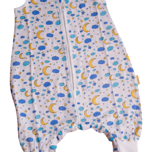 Moon and stars summer sleepsuit