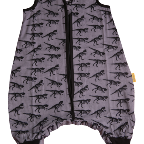 Grey dinos Summer sleepsuit