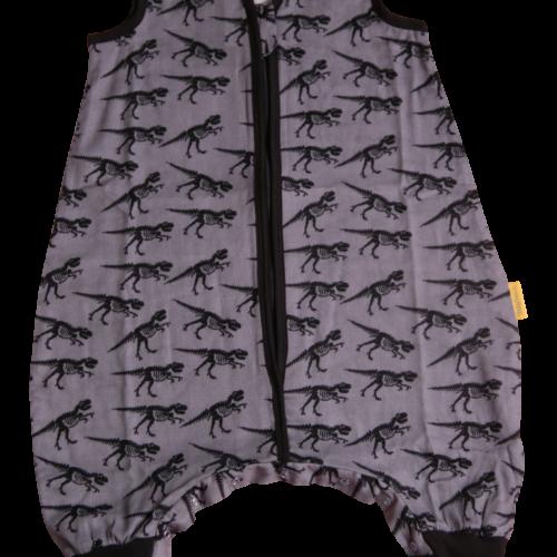 Grey dinos Summer sleepsuit
