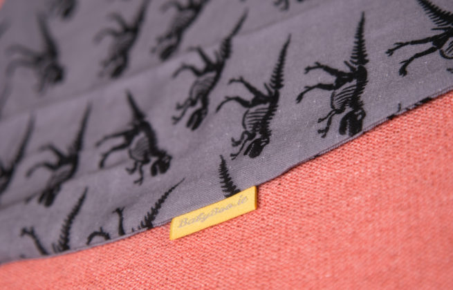 Grey dinos organic cotton snuggleboo sleepsuit