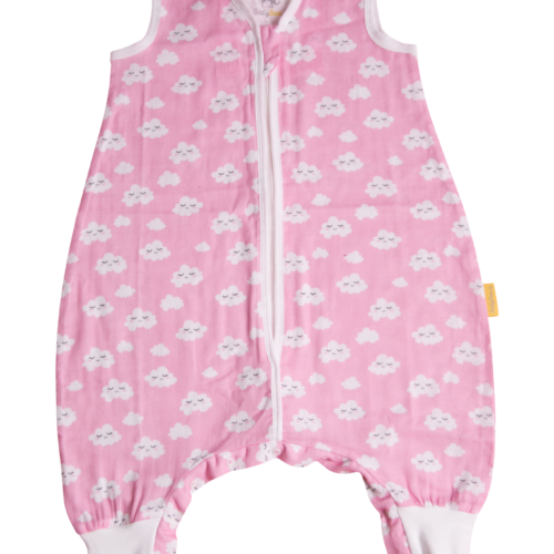 Pink clouds summer sleepsuit