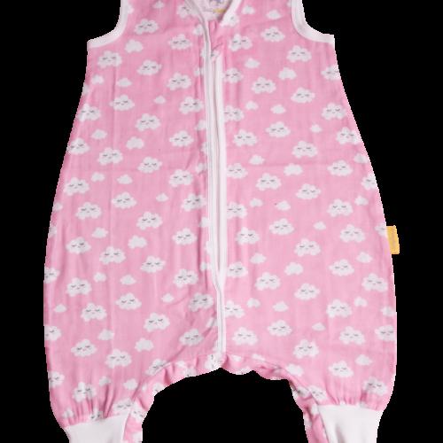 Pink clouds summer sleepsuit