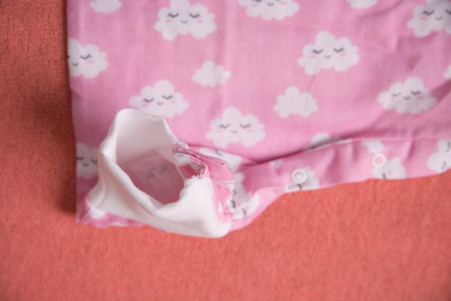 Pink clouds organic cotton snuggleboo sleepsuit