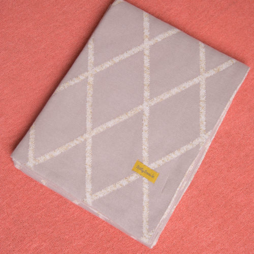 Gold Geometric organic cotton blanket