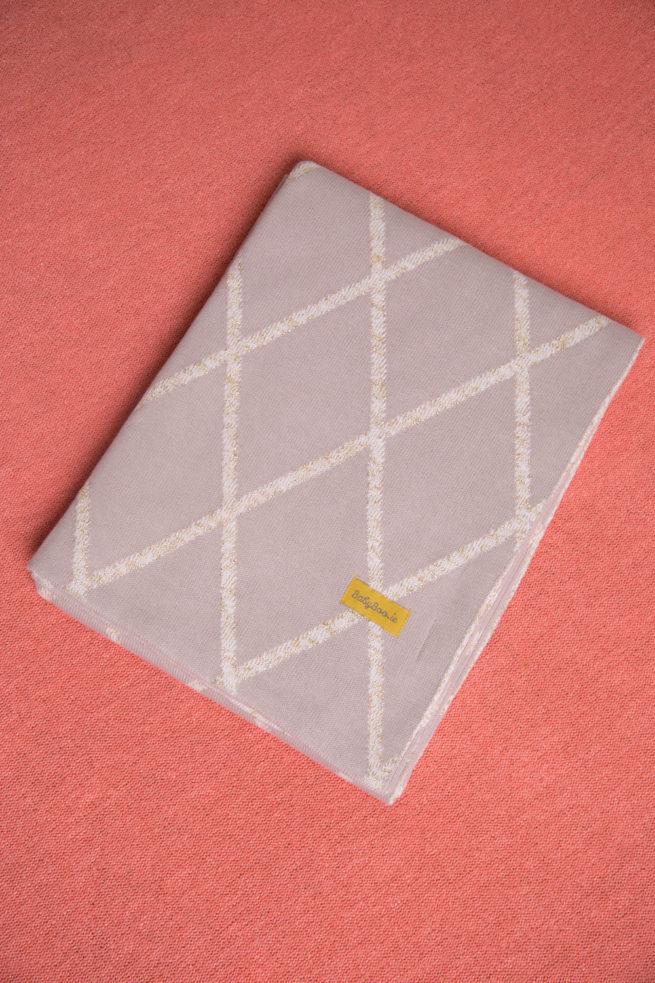 Gold Geometric organic cotton blanket