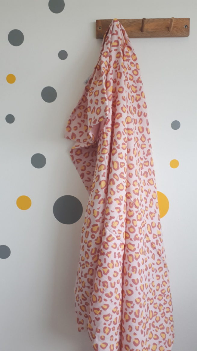 Leopard print super square muslin