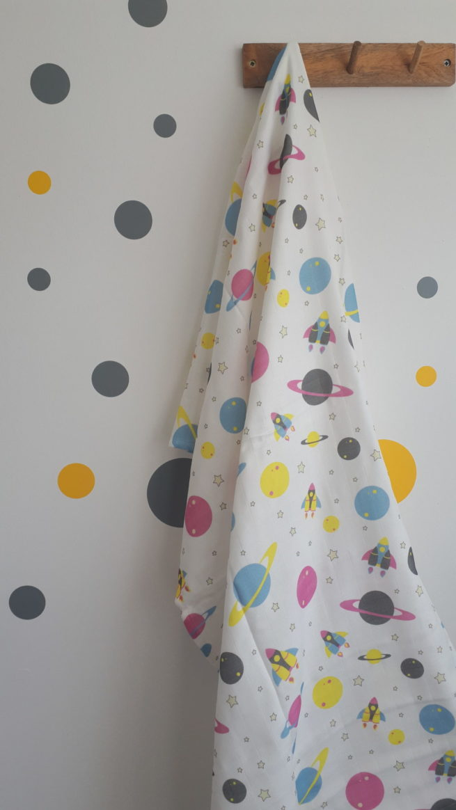 Space print super square muslin