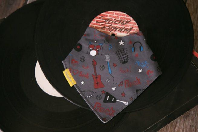 Rockstar dribbleboo bandana bib