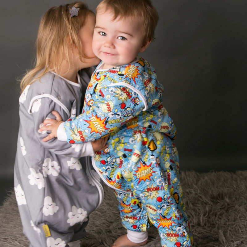 SnuggleBoo organic cotton sleepsuits