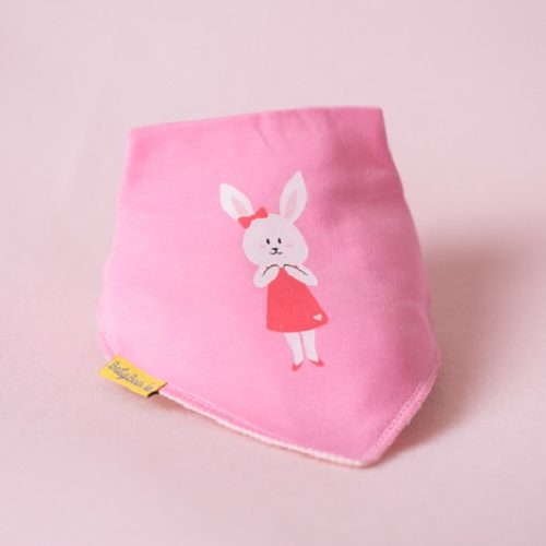 Lila Bunny Bandana bib