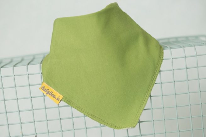 Just green dribbleboo bandana bib