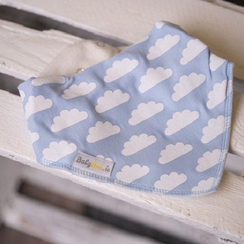 Blue clouds dribbleboo bandana bib