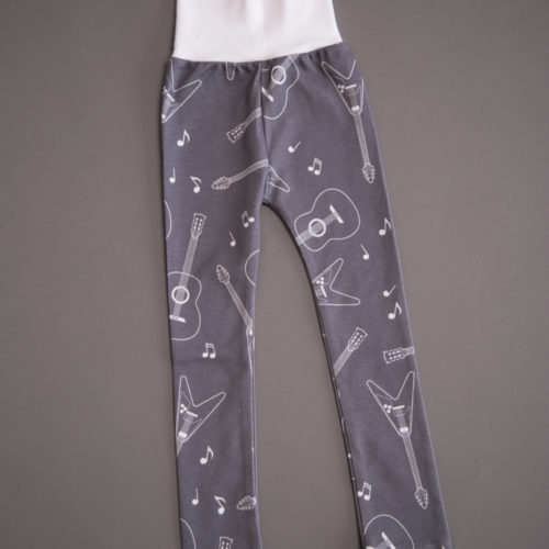 Guitars organic cotton leggings