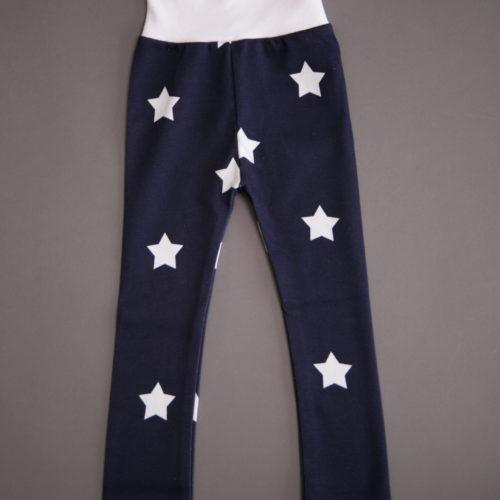 Navy stars organic cotton leggings