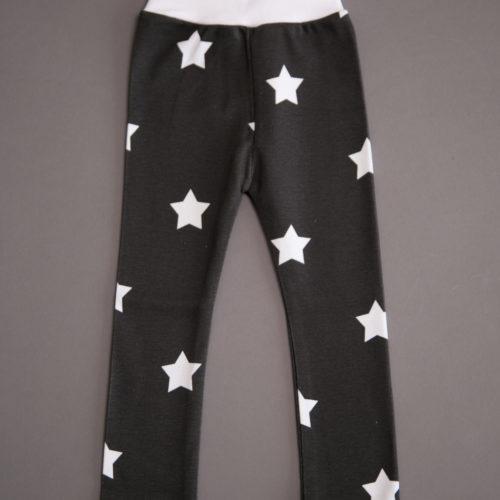 Charcoal stars organic cotton leggings