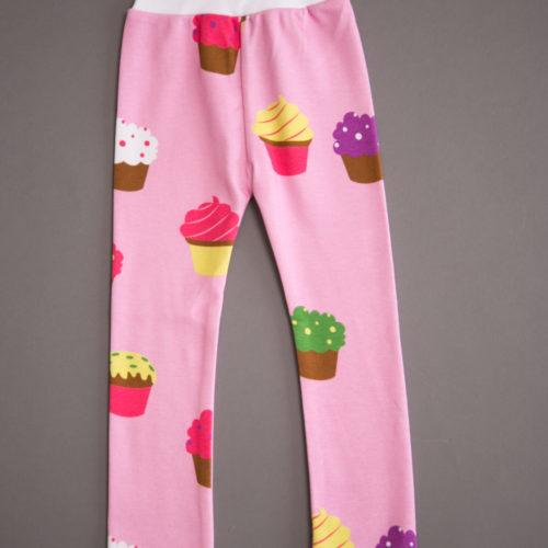Cupcakes organic cotton leggings