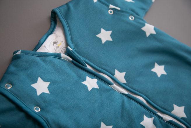 Teal stars snuggleboo sleepsuit