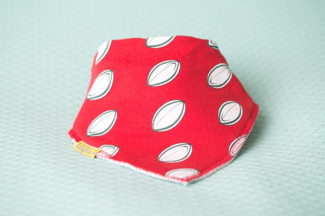 Rugby print DribbleBoo bandana bib