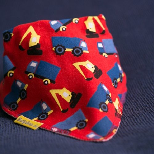 Red trucks dribbleboo bandana bib