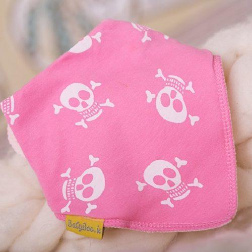 Pink skulls dribbleboo bandana bib