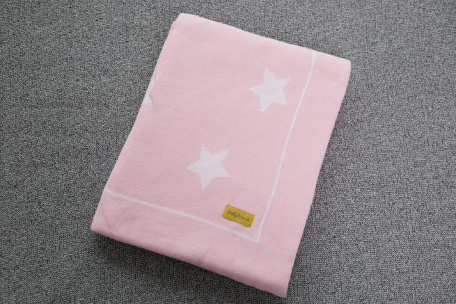 Pink stars organic cotton BlankieBoo blanket