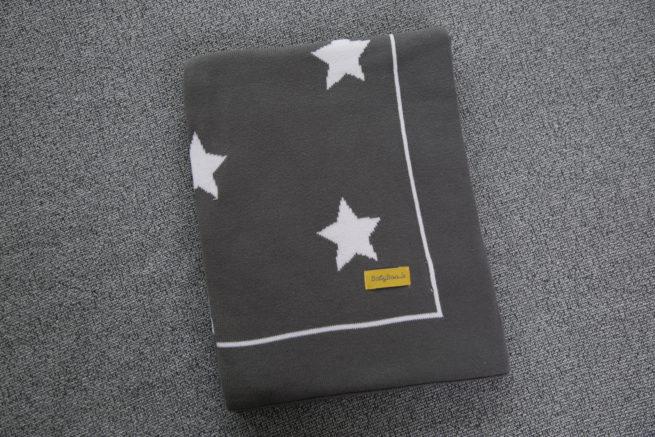 Grey stars organic cotton BlankieBoo blanket