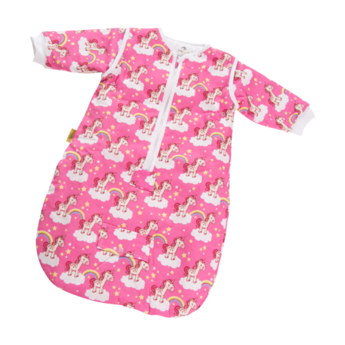 Pink unicorns organic cotton SnuggleBoo sleeping bag