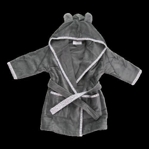 Grey ellie elephant organic cotton cozyboo robe